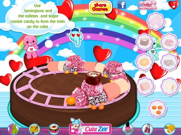 game Banh gato kem sinh nhat doan tau