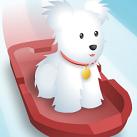 Cún con trượt tuyết
