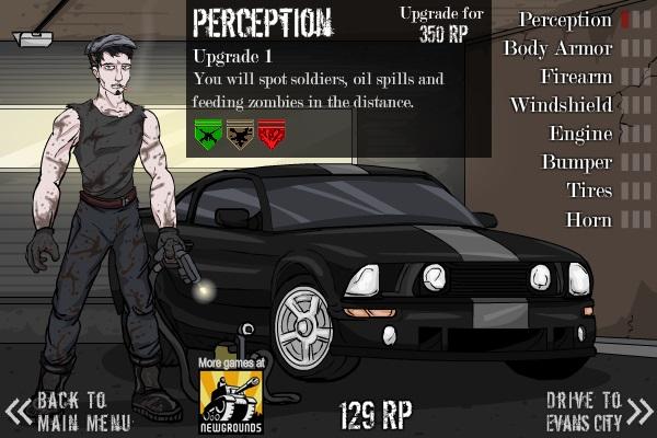 game dua xe dam zombie