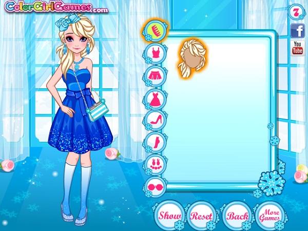game Elsa va Anna di hoc shopping
