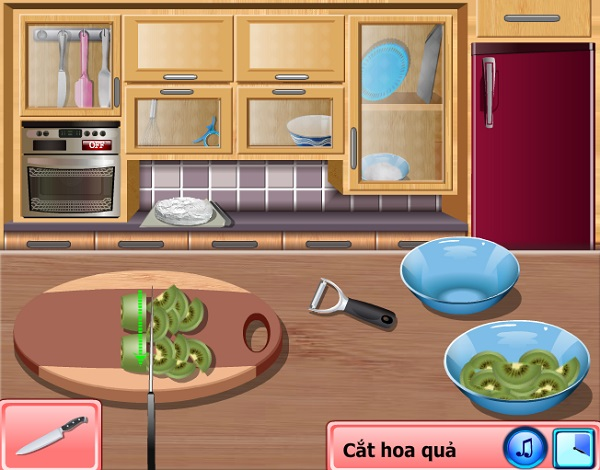 game Lam banh kem trai cay cuc ngon