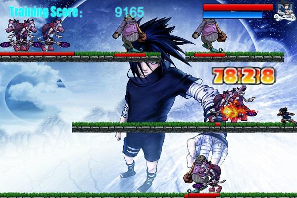 game Naruto cuu vi chien dau voi quai vat