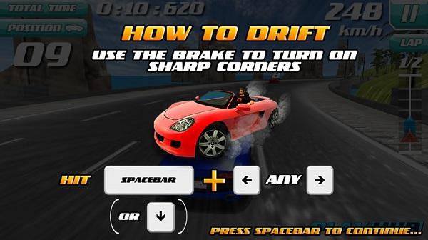 game Sieu xe drift 3D cho may tinh pc