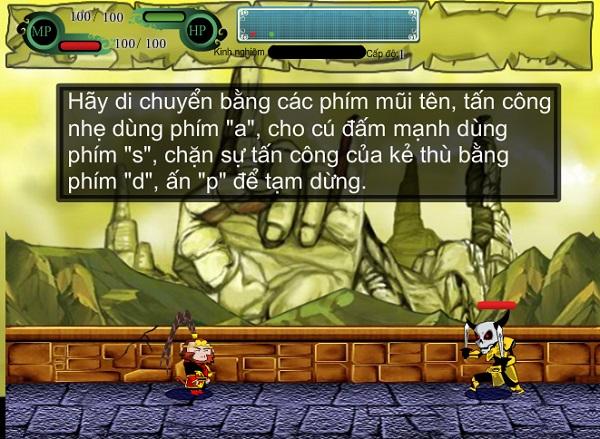 game Ton ngo khong danh nhau voi yeu quai