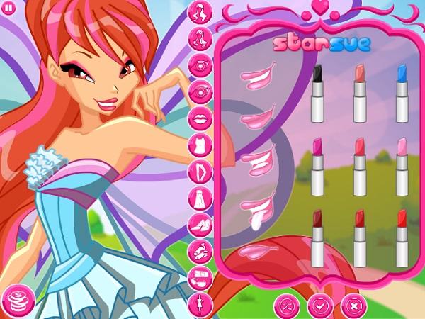game Trang diem cong chua Winx stella bloom flora musa tecna aisha