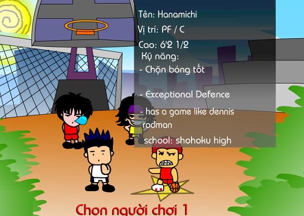 game Bong ro Hanamichi cu nhay than thanh