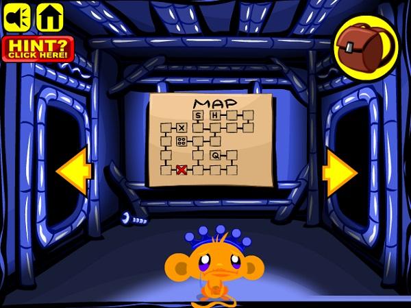 game Chu khi buon me cung monkey go happy maze