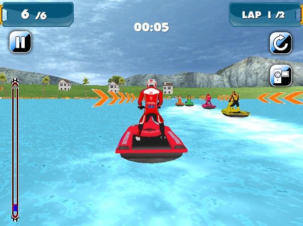 game Dua moto nuoc 3D online offline mien phi