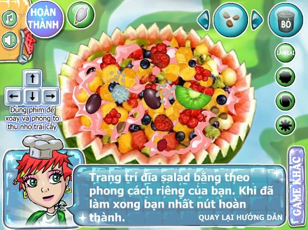 game Lam sua chua trai cay nep cam thap cam