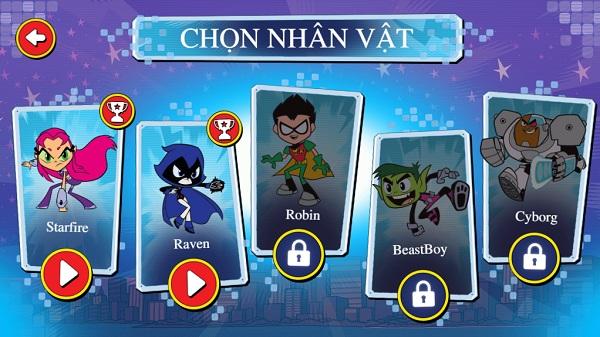 game Biet doi thieu nien titan choi game teen titans go action arcade