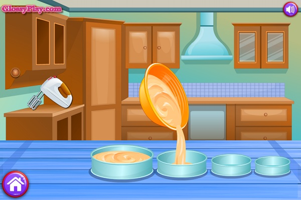 game Elsa lam banh cuoi 4 5 tang