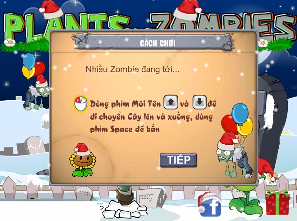 game Plants vs zombies giang sinh hinh anh 1