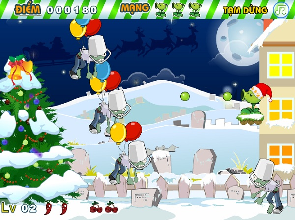 game Plants vs zombies giang sinh hinh anh 2