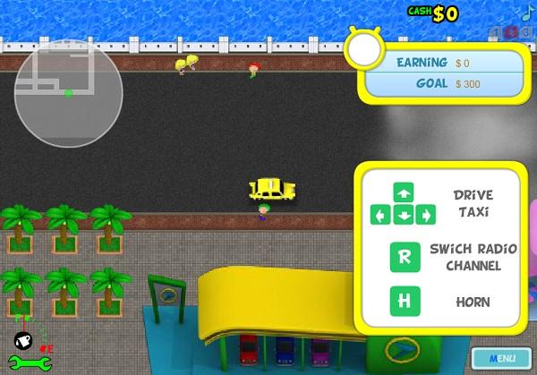 game Tai xe taxi 4 cho don khach
