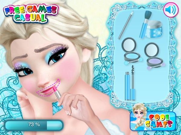 game Trang diem co dau Elsa hinh anh 3