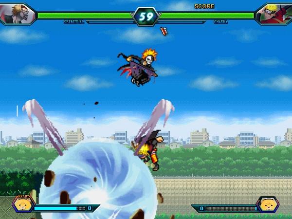 game Bleach vs Naruto 3.1 danh nhau doi khang