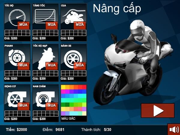 game Dua xe mo to duong pho 3d cho pc