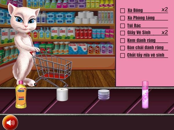 game Meo Angela di sieu thi mua sam shopping