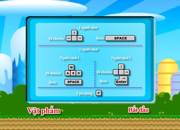 game Dat boom Mario 2 nguoi choi
