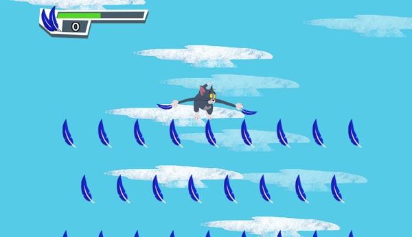 game Meo Tom tap bay freefalling tom