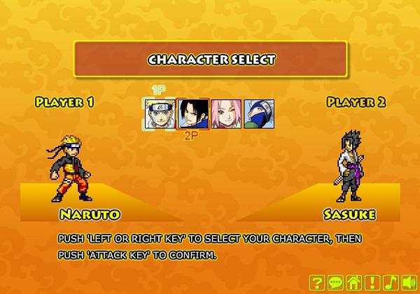game Naruto vs Sasuke 2 nguoi choi