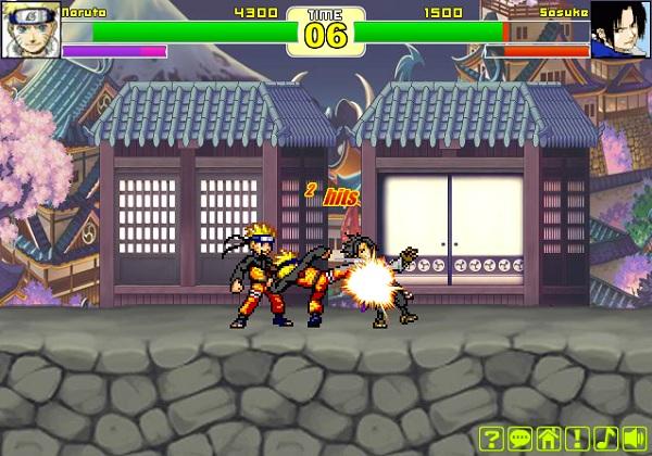 game Naruto vs Sasuke danh nhau quyet dau