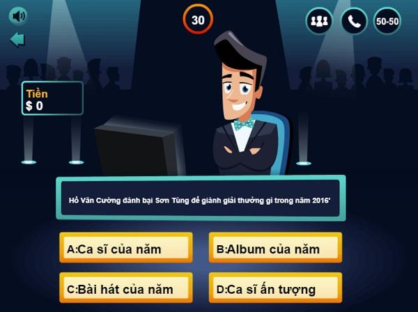game Ai la trieu phu 2018 cho java android iphone pc