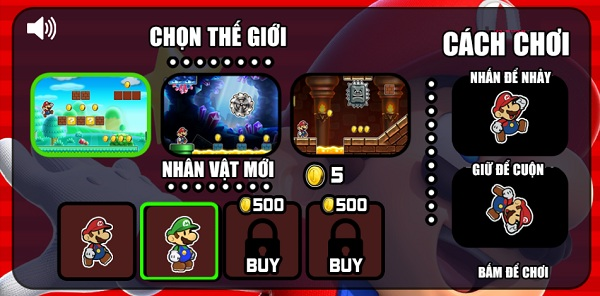 game Chay di Mario 2 cho android iphone pc