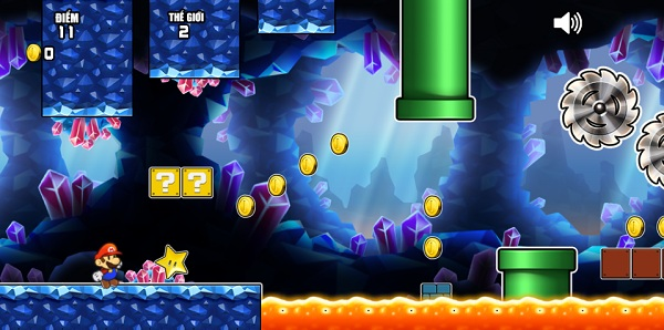 game Chay di Mario 2 super mario run 2