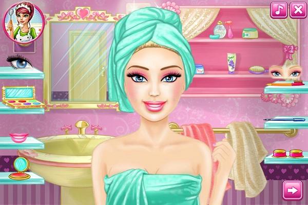 game Trang diem Barbie hinh anh 2