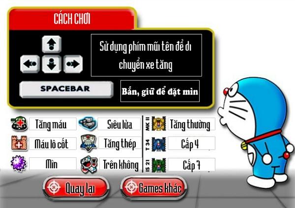 game Dai chien xe tang Doremon hinh anh 1