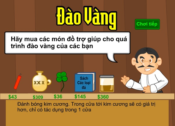 game Dao vang doi man hinh rong