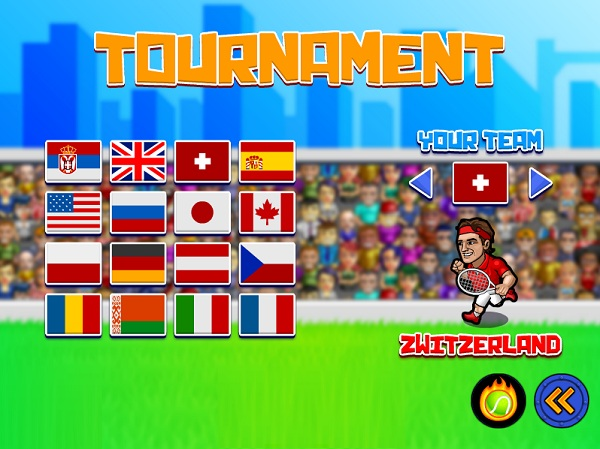 game Tennis cuong nhiet 2 nguoi choi