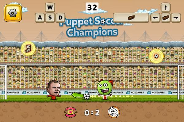 game Bong da Puppet soccer online