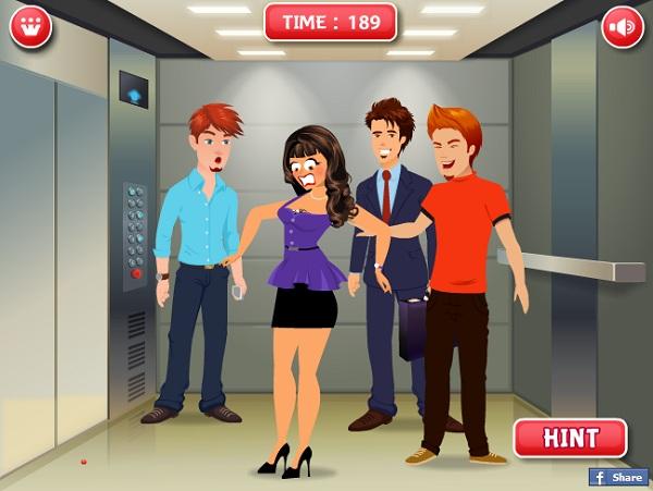 game Choc pha trong thang may hinh anh 3