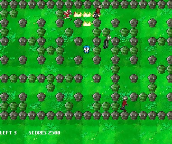 game Doremon vs zombies hinh anh 1