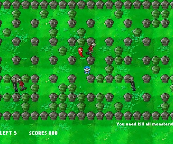 game Doremon vs zombies hinh anh 3