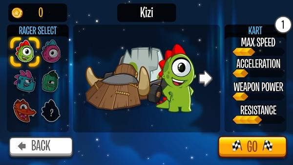 game Dua xe Kizi kart racing