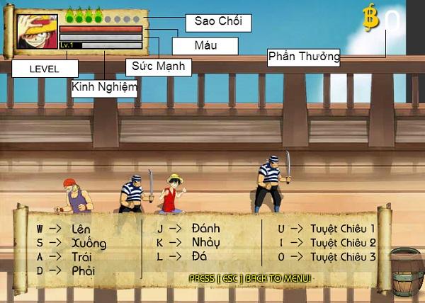 game Dai hai trinh one piece