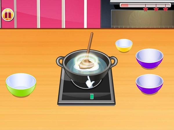 game Lam banh ngot va banh kem socola