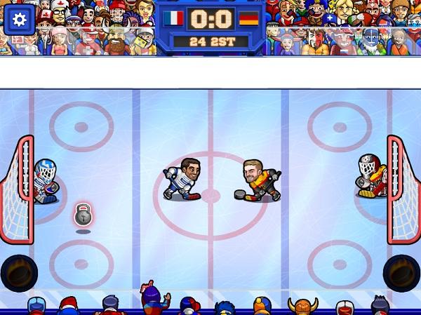 game Khuc con cau tren bang hockey fury