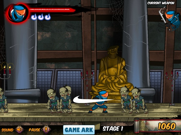 game Ninja vs Zombies 2 hinh anh 2