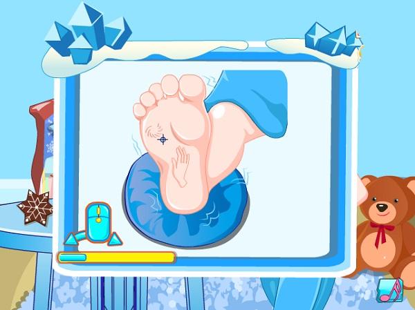 game Cham soc ba bau nu hoang bang gia Elsa