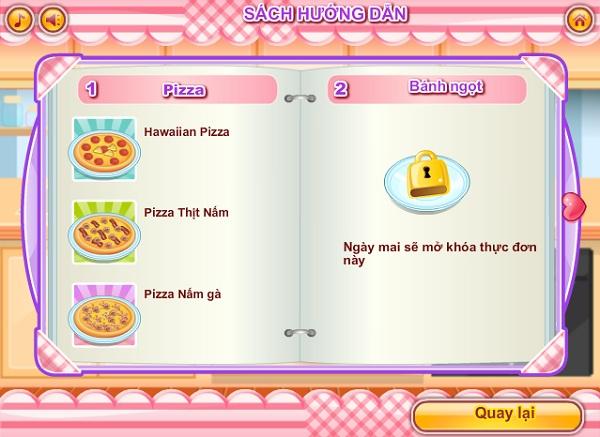 game Huong vi tinh yeu pizza mi ong socola valentine