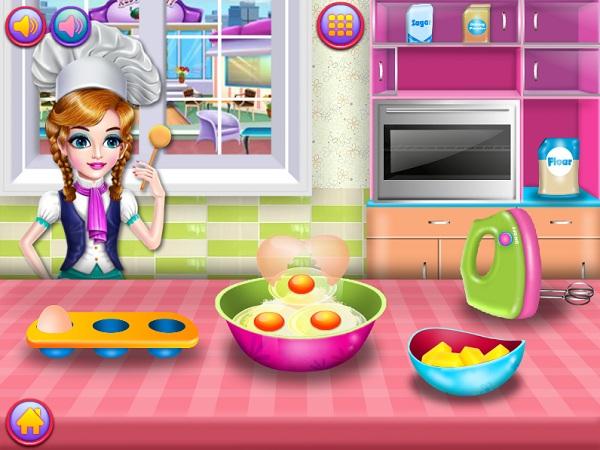 game Lam banh pancake cau vong