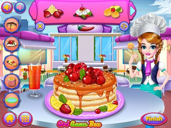 game Lam banh pancake trai cay