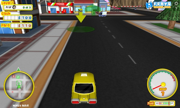 game Lai xe taxi 24h y8