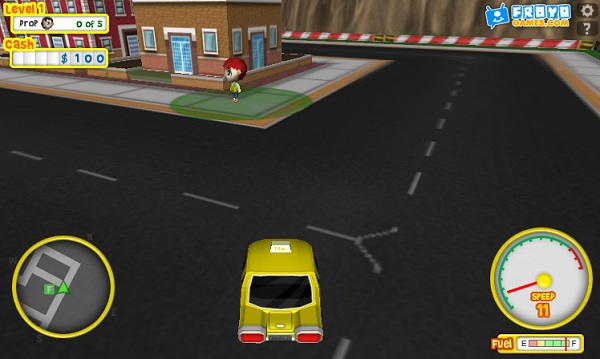 game Lai xe taxi 3d