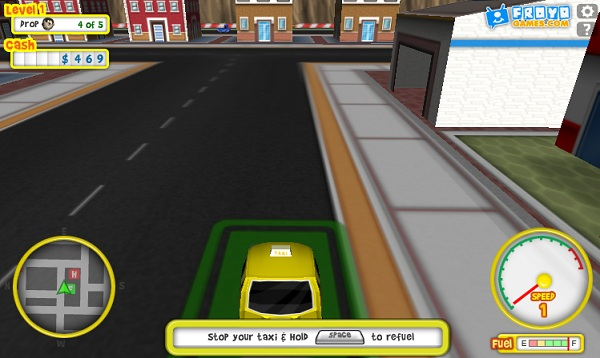 game Lai xe taxi online mien phi cho pc