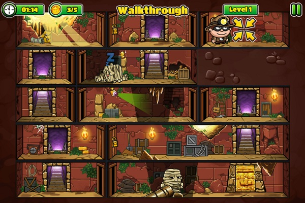 game Sieu trom 7 bob the robber 5 temple adventure